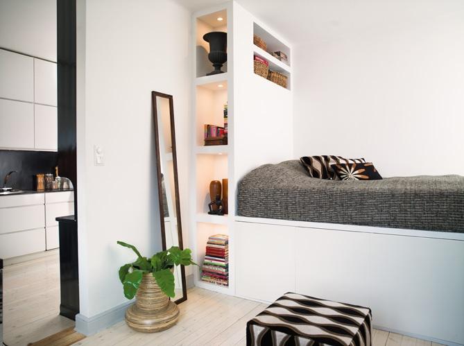 petit espace amenagement tete de lit chambre