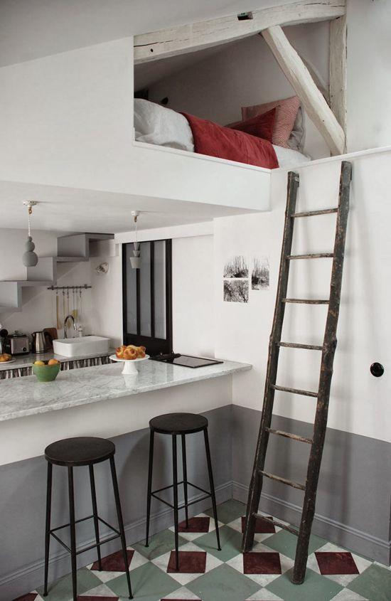 petit espace chambre mezzanine
