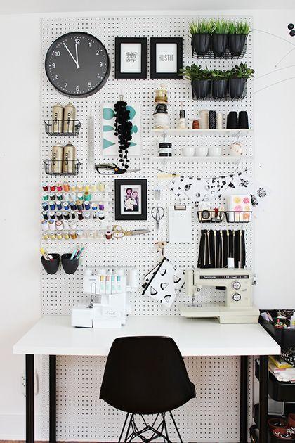 bureau creatif rangement mural