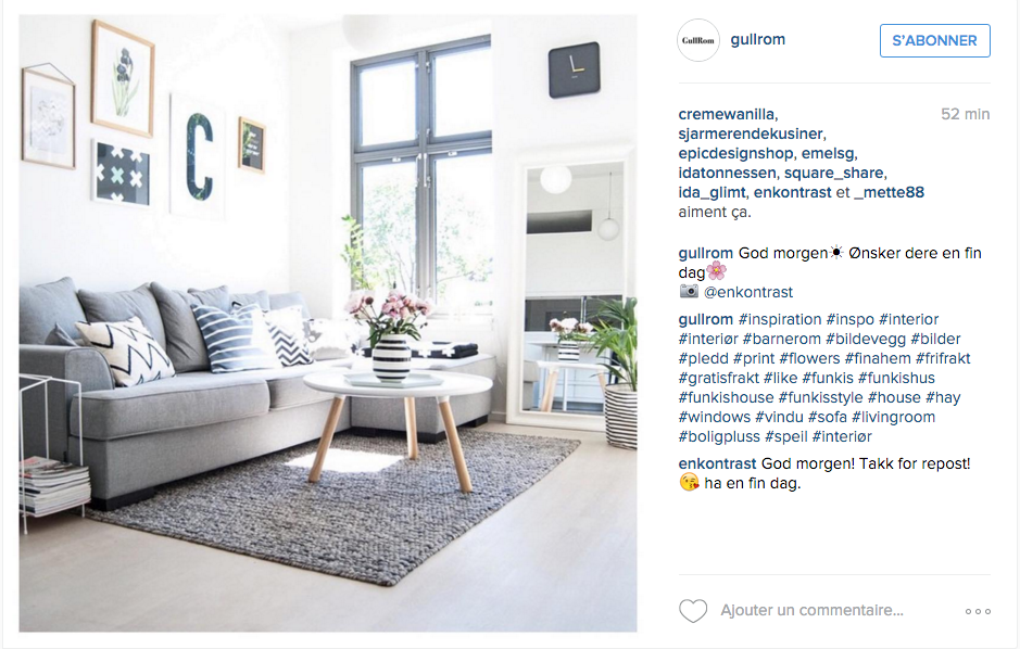 Instagram inspiration d co pour le salon cocon de for Chambre instagram