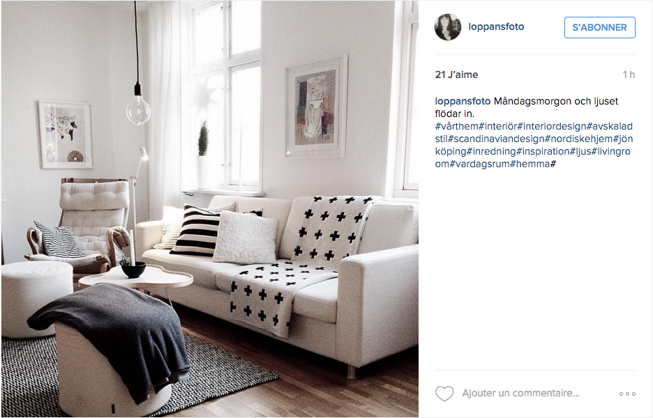 instagram inspiration d co pour le salon cocon d co vie nomade. Black Bedroom Furniture Sets. Home Design Ideas