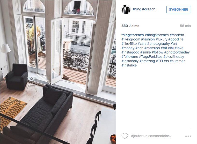 instagram idee deco salon lumiere
