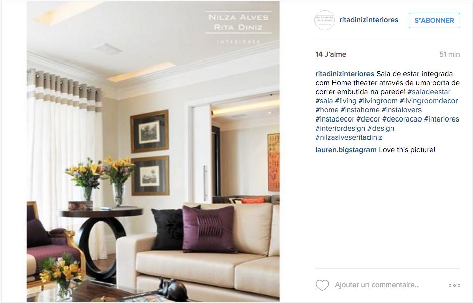 instagram idee deco salon raffinement