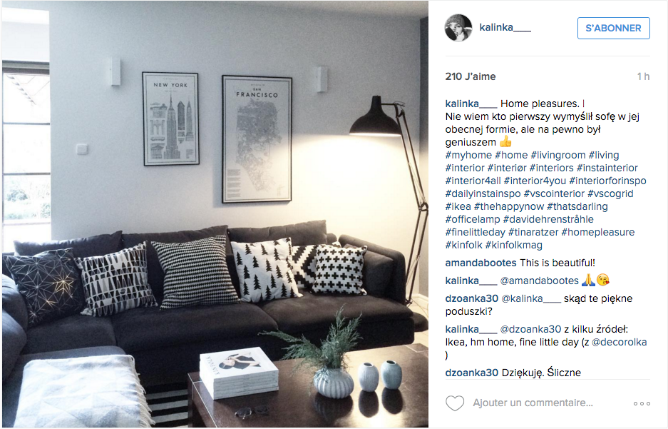 Instagram inspiration d co pour le salon cocon de d coration le blog - Idee deco salon ikea ...