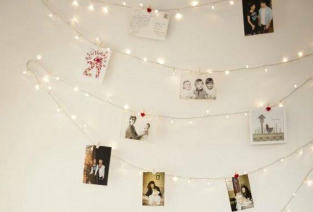 10 id es pour mettre en valeur vos photos cocon de for Guirlande lumineuse chambre fille