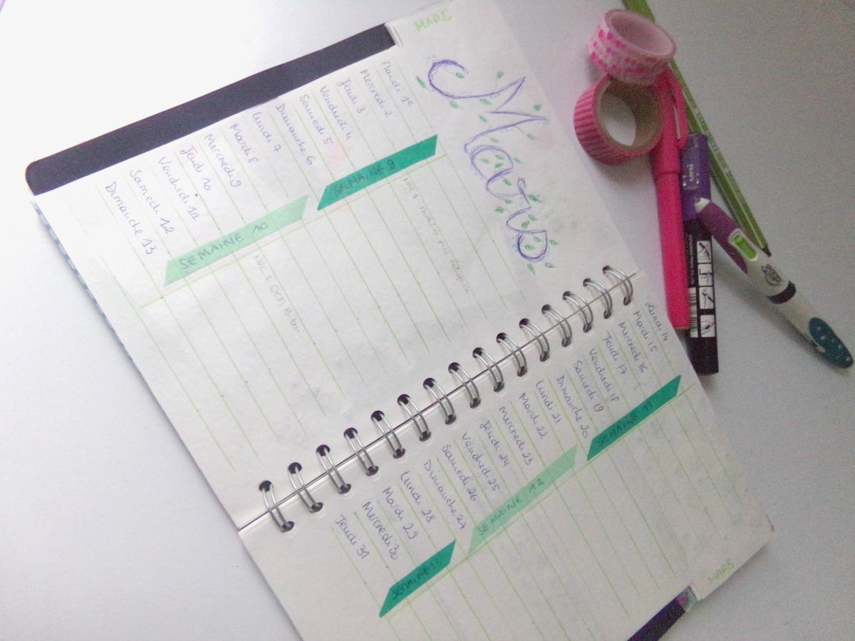 bullet journal organisation facile et creative