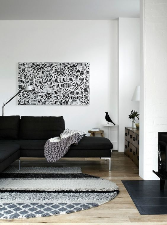 inspiration un tapis pour le salon cocon d co vie nomade. Black Bedroom Furniture Sets. Home Design Ideas