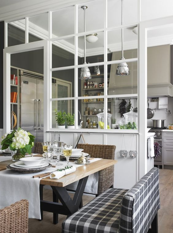 Une verri re dans la cuisine cocon de d coration le blog - Verriere dans cuisine ...