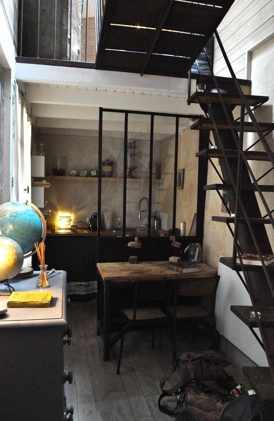 Une verri re dans la cuisine cocon de d coration le blog - Deco cuisine industrielle ...