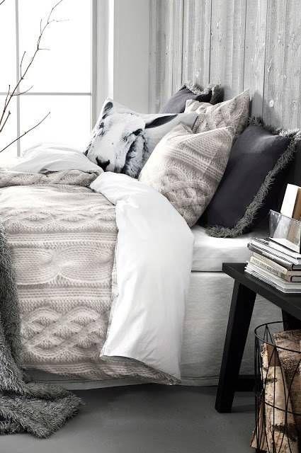 deco coussin chambre laine cosy