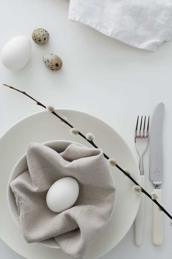 deco de table paque couleurs neutres sobre et elegant