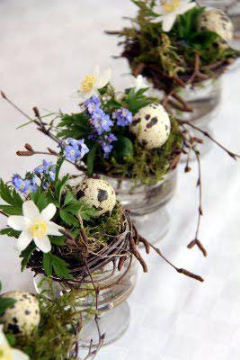 deco paque petot centre de table fleurs