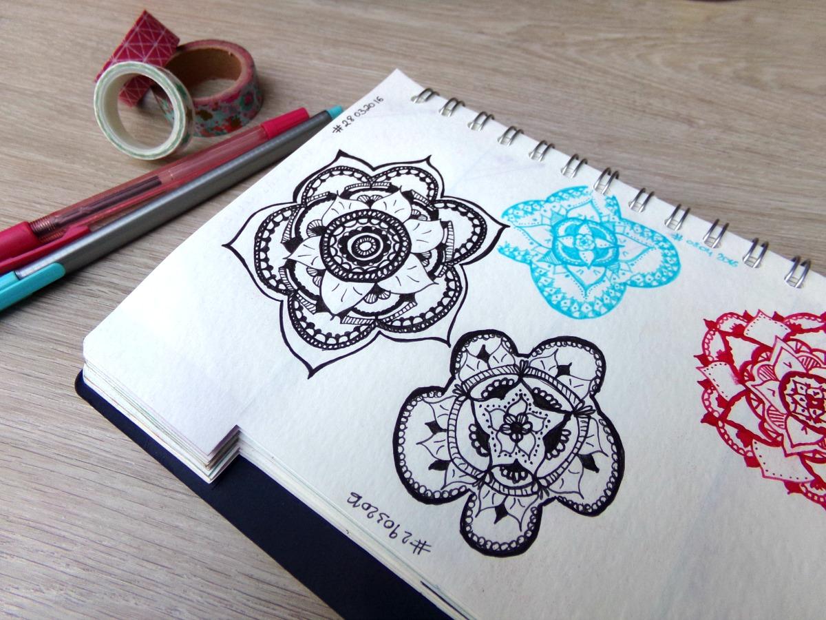 dessin mandalas bullet journal