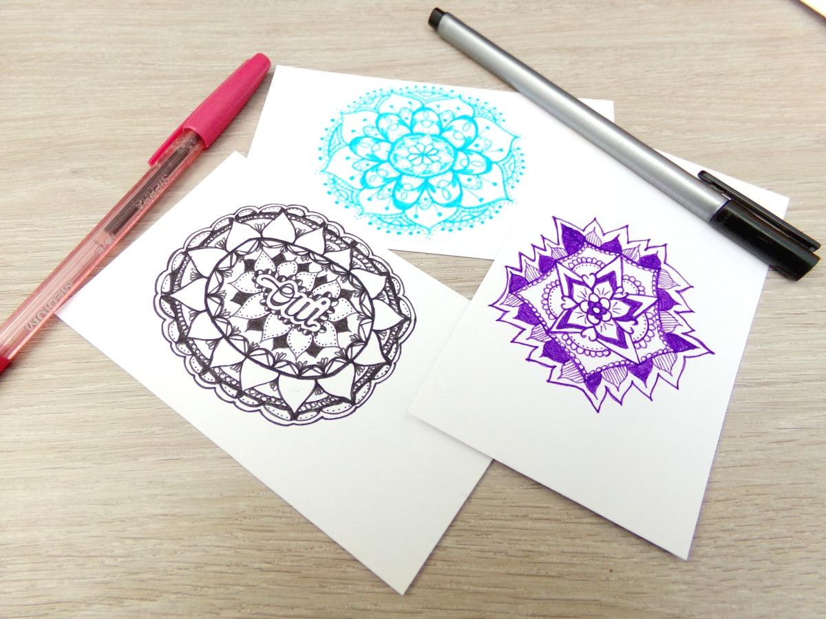 mandala meditation dessin feutres couleurs