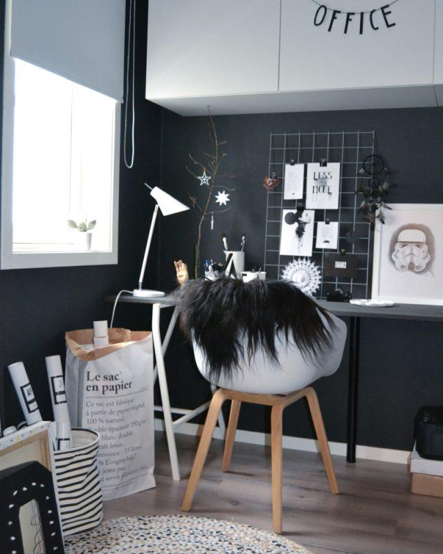 Inspiration des moodboards pour le bureau cocon de for Bureau noir et blanc