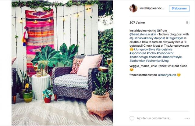 deco boheme exterieur plante fauteuil de jardin