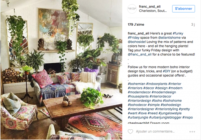 Comme un air de boh me sur instagram cocon de d coration for Decoration maison boheme