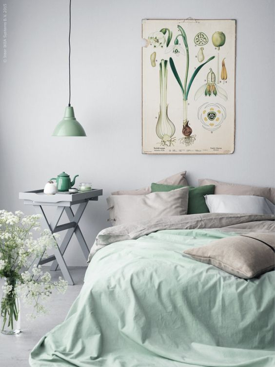 inspiration un air de printemps dans la chambre cocon. Black Bedroom Furniture Sets. Home Design Ideas