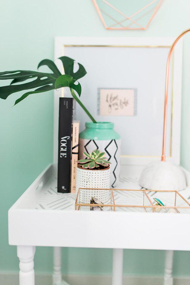 deco detail chambre inspiration pastel plante