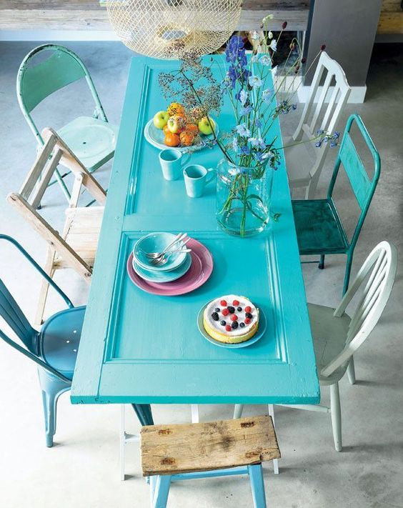 idee deco jardin table recup