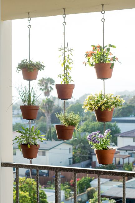 idee plante suspendue balcon exterieur