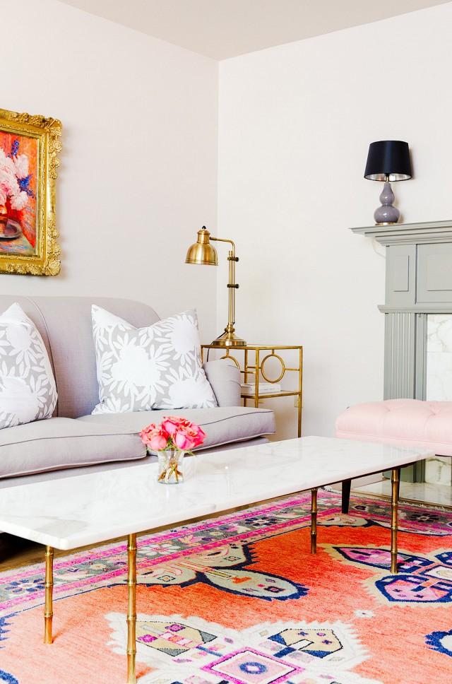 deco salon tapis couleur