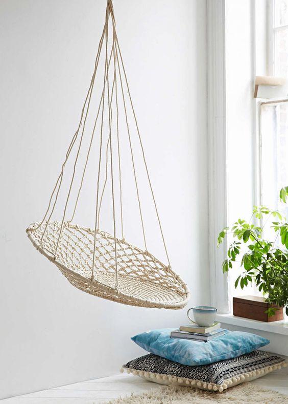 idee decoration dinterieur petite balancelle tissage