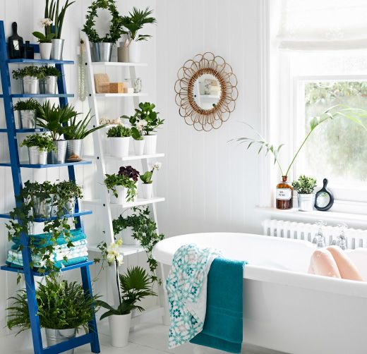 inspiration d co des plantes vertes dans la salle de bain cocon d co vie nomade. Black Bedroom Furniture Sets. Home Design Ideas