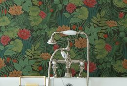 papier peint motifs floraux