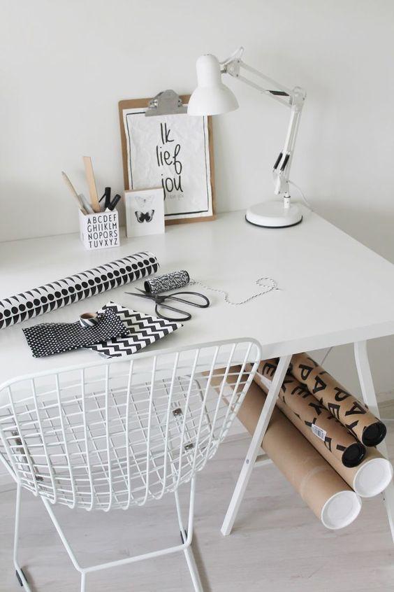 inspiration minimaliste bureau