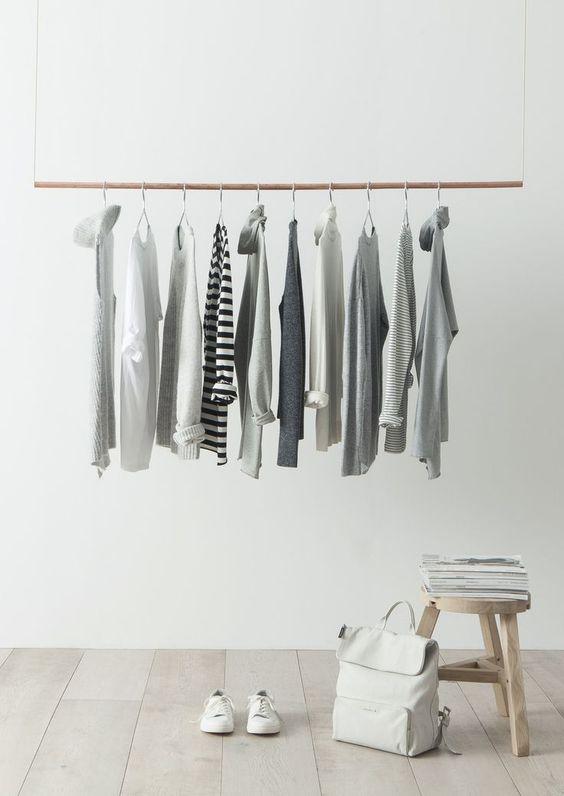 inspiration minimaliste dressing simple