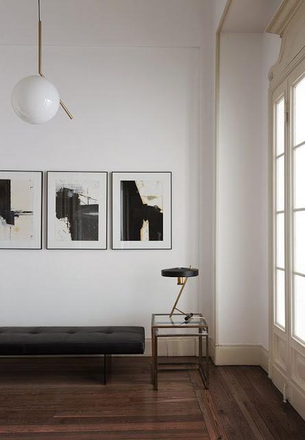 inspiration minimaliste salon luminaire