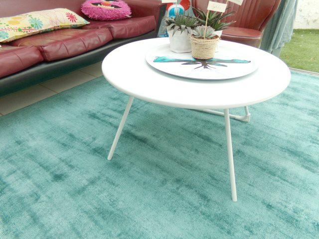 salon deco tapis table basse