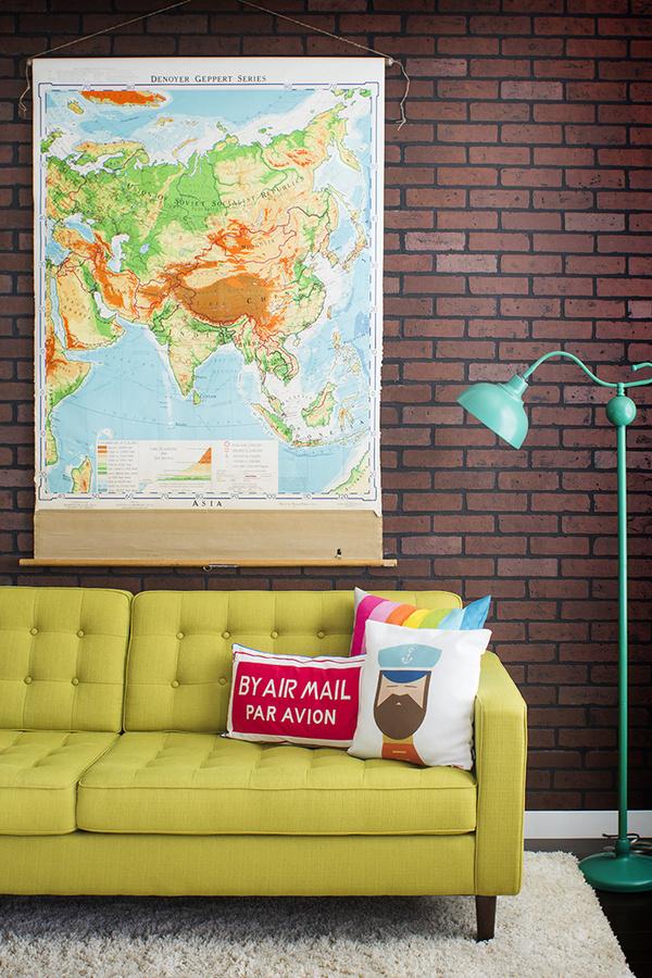 des briques dans la d co cocon d co vie nomade. Black Bedroom Furniture Sets. Home Design Ideas