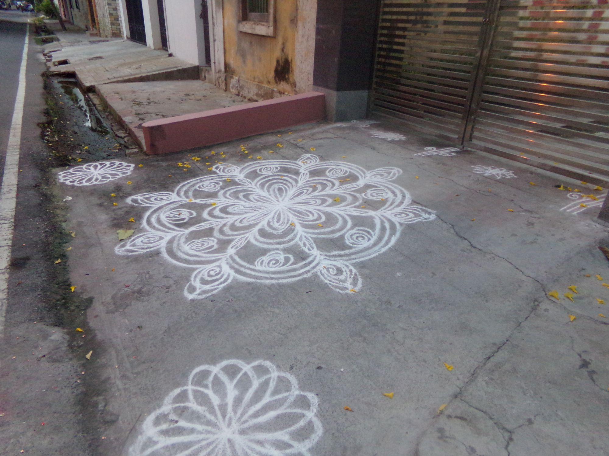 rangoli ayudha pooja pondy 2016
