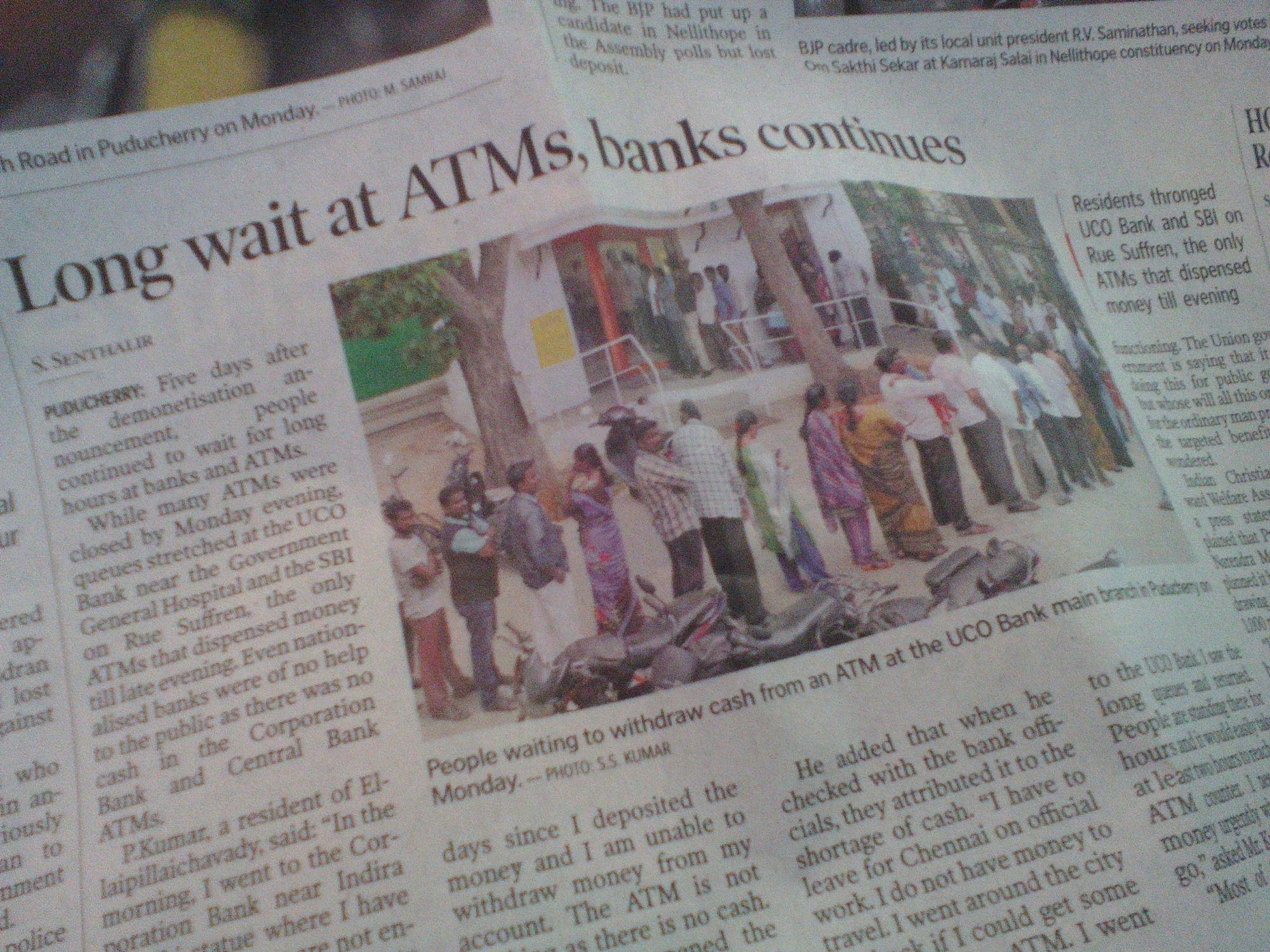 demonetisation article journal inde