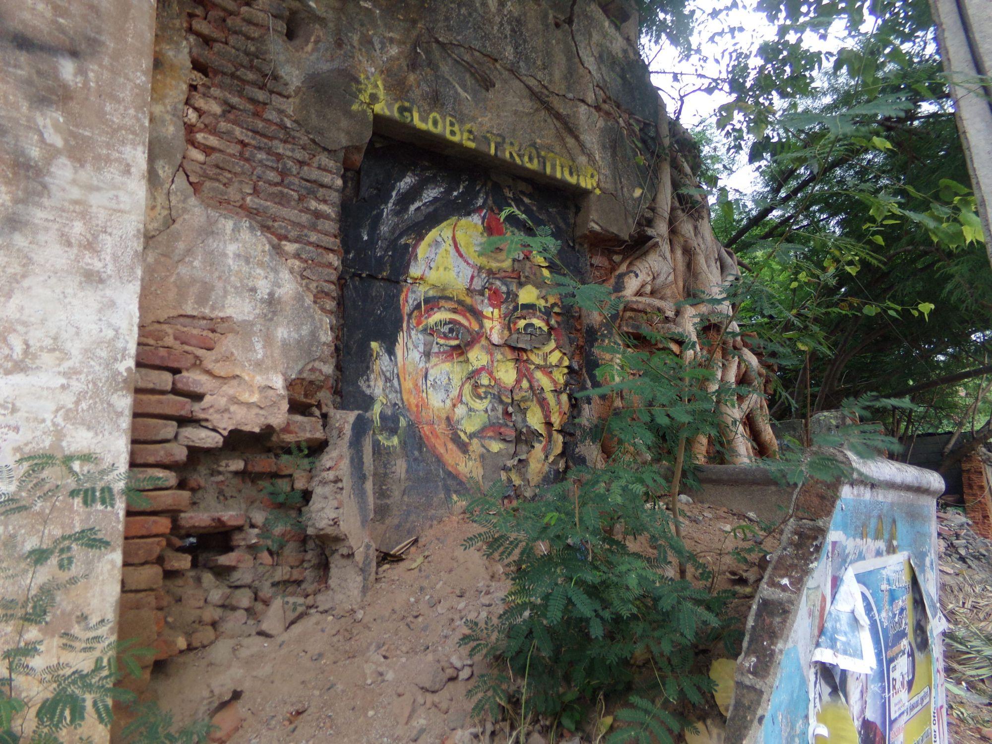 street art pondicherry peinture murale