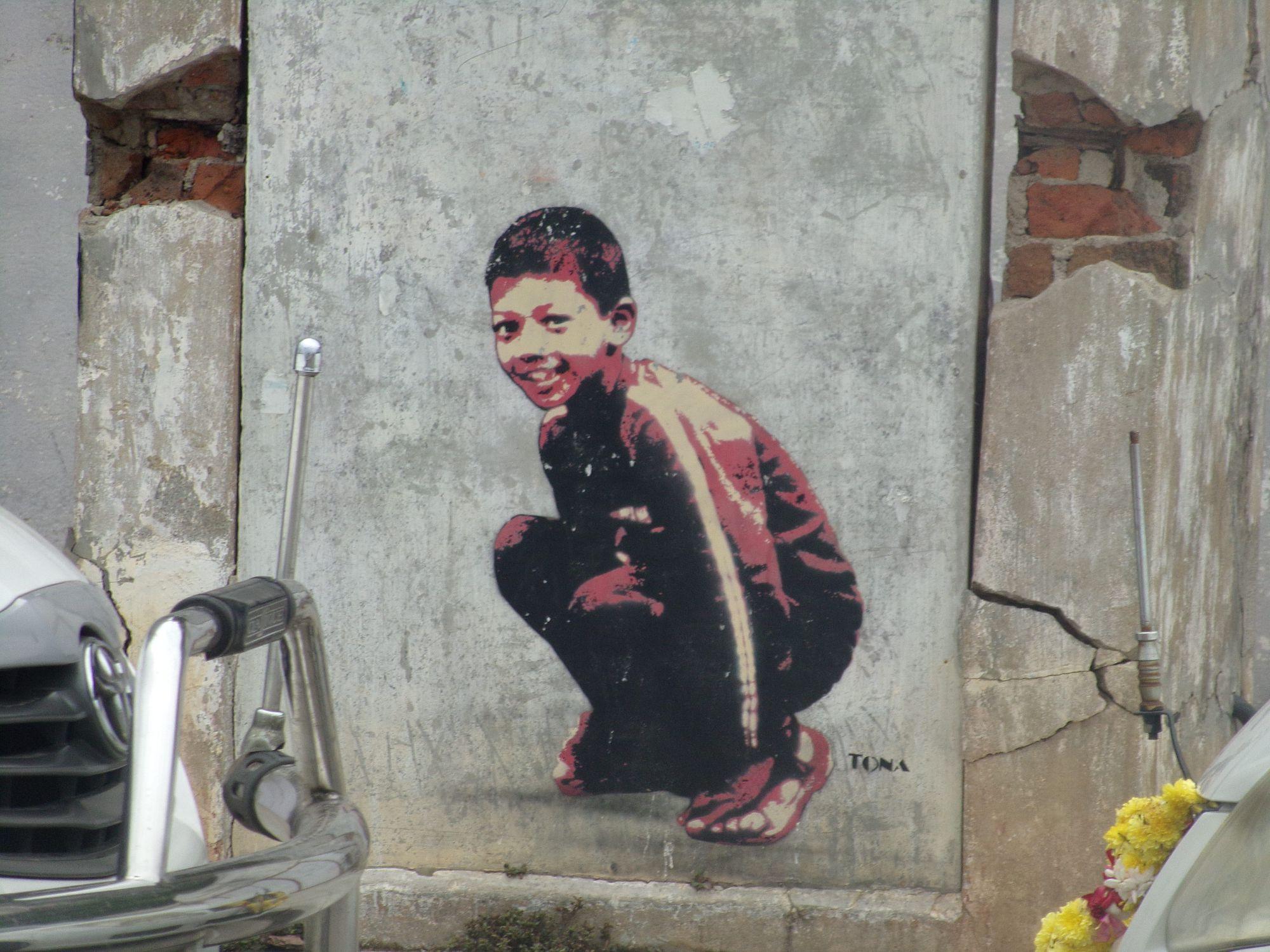 street art pondicherry tona promenade