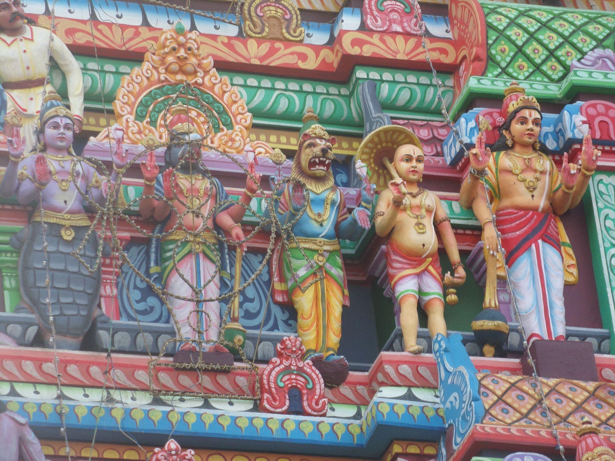 temple hindouisme dieux inde du sud