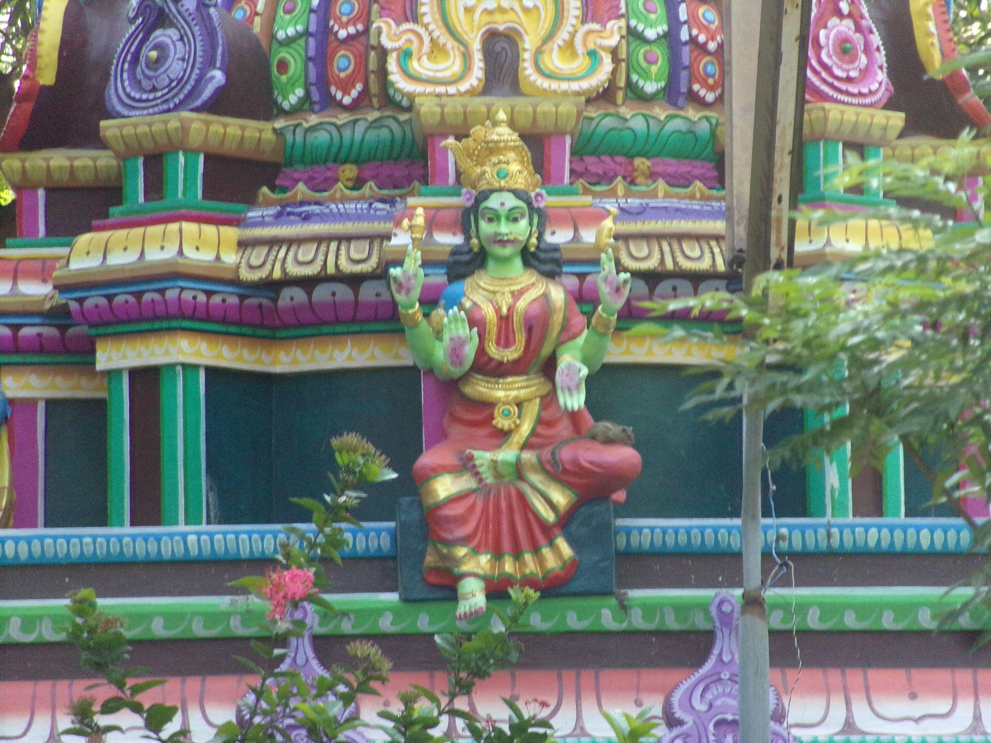 temple hindou inde du sud deesse detail
