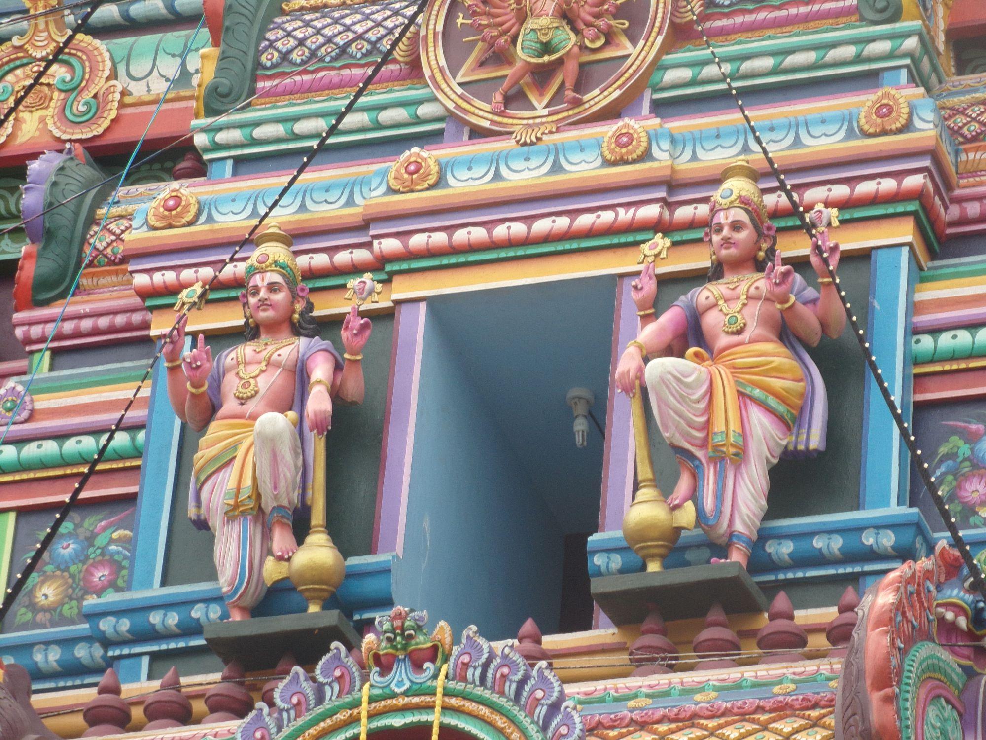 temple hindou pondicherry mg road detail