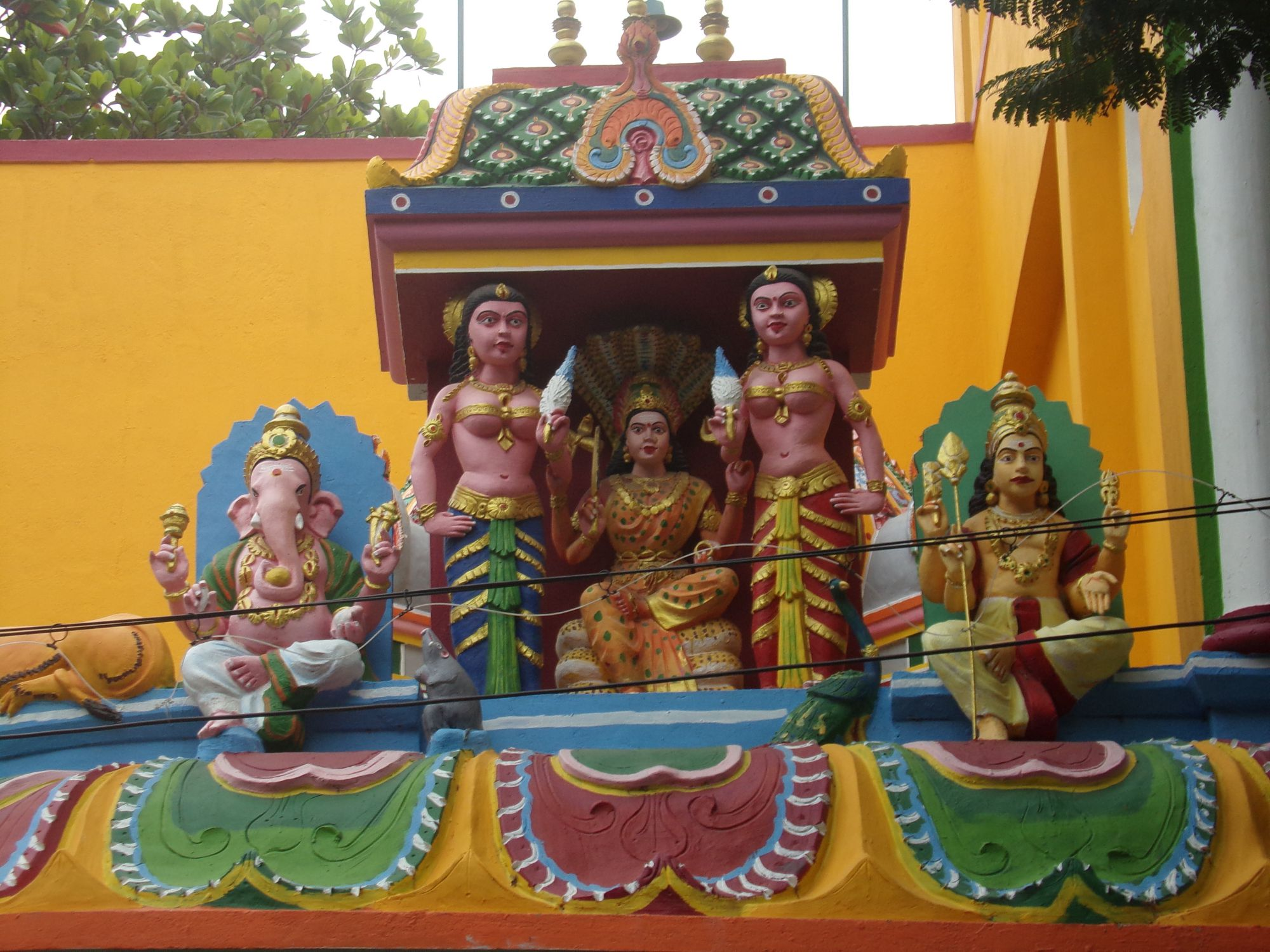 temple hindou quartier tamoule pondicherry