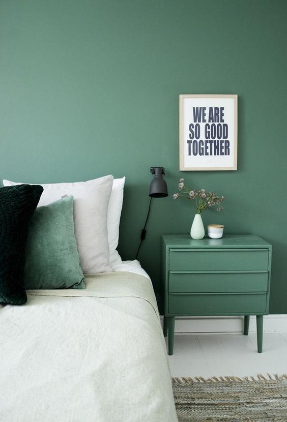 chambre inspiration vert deco