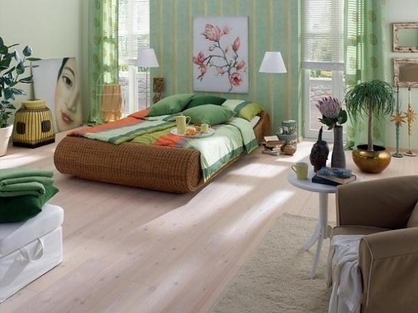 deco chambre vert pastel eclectique