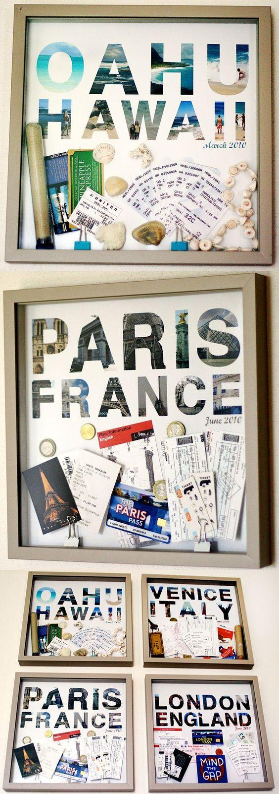 Mettre en valeur ses souvenirs de vacances cocon de for Travel gallery wall ideas