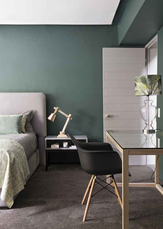 decoration vert chambre a coucher