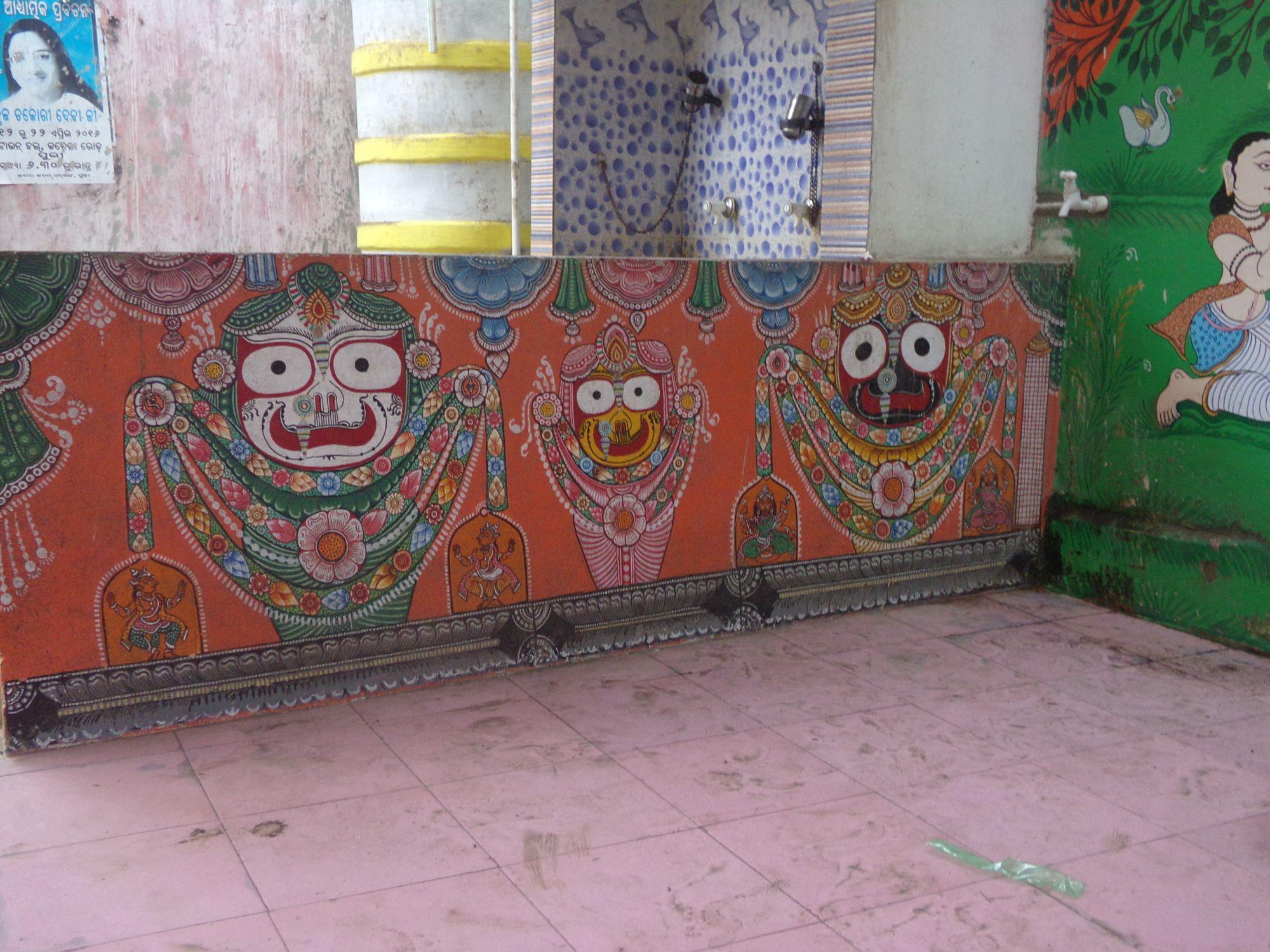 dieux puri street art odisha ville sacree