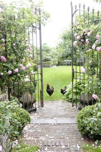 portail classique esprit boheme jardin