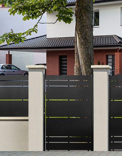 Porte De Cloture De Jardin Portail Pvc Imitation Bois  Menuisier