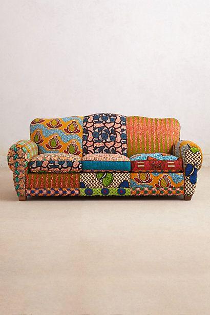 Des motifs sur le canap cocon d co vie nomade - Sofa afrika style ...
